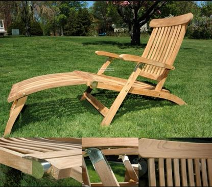 Picture of Teak Steamer Lounger
